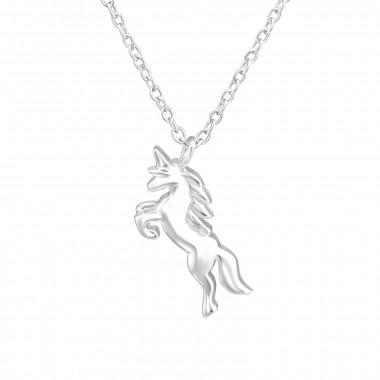 Silver unicorn necklace-1