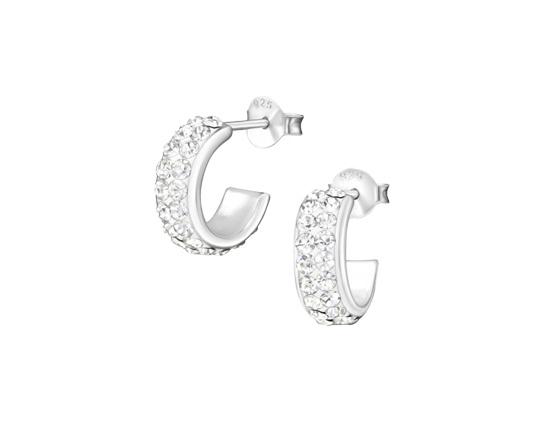 Zilveren oorstekers kristal-1