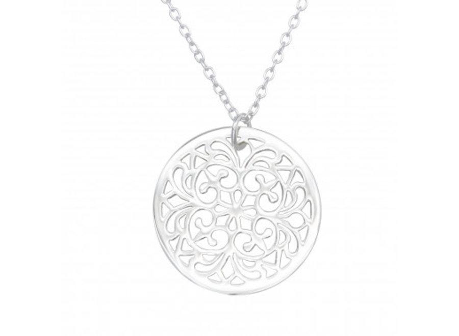 Silver necklace antique