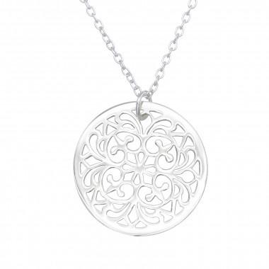 Silver necklace antique-1