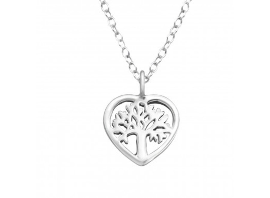 Silver necklace tree of life