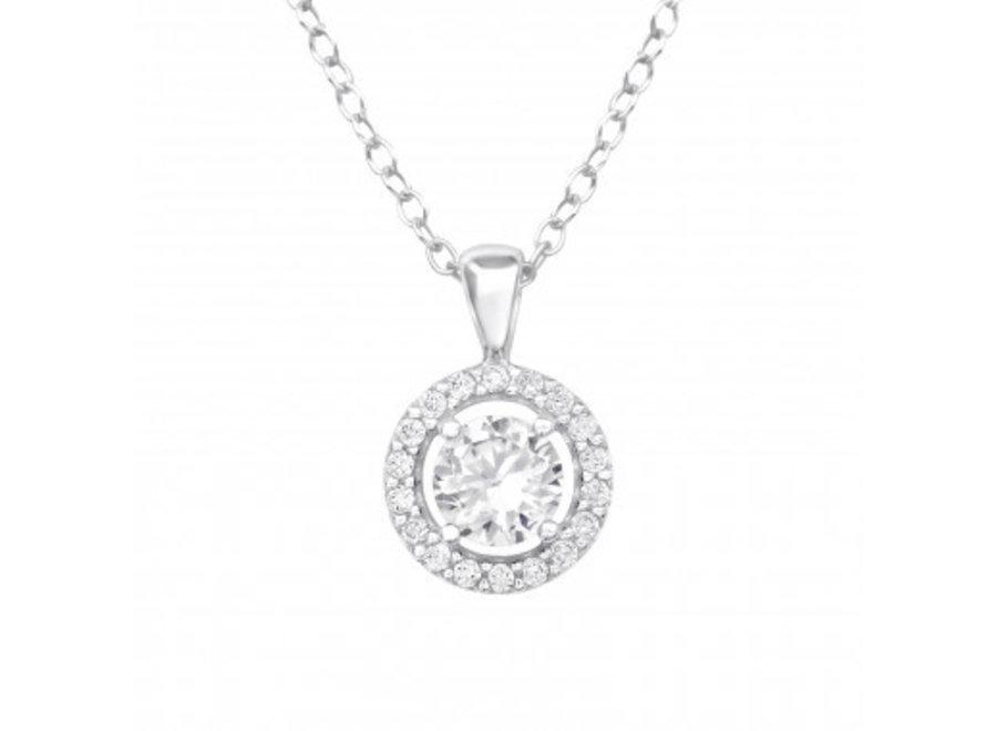 Silver chain zirconia stone