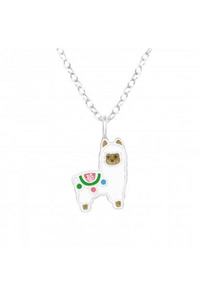Silver chain alpaca