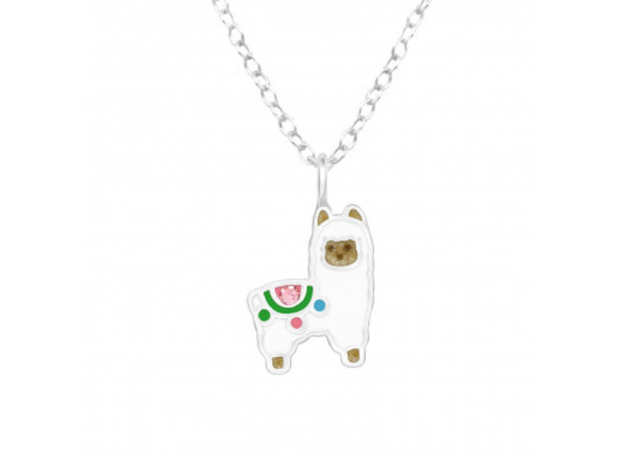 Zilveren ketting alpaca