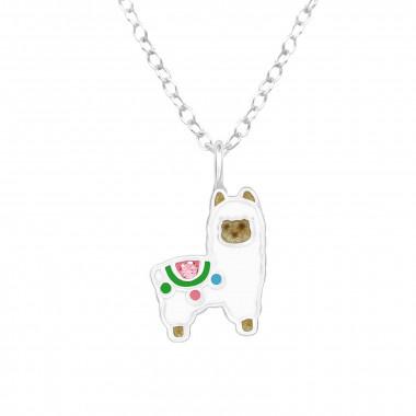 Zilveren ketting alpaca-1
