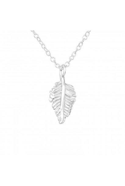 Zilveren ketting blad