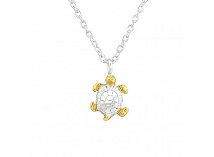 Zilveren ketting schildpad