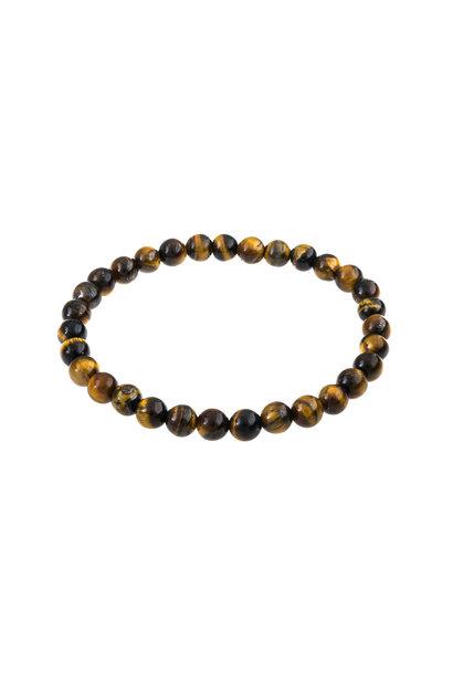 Gemstone bracelet tiger eye 6mm