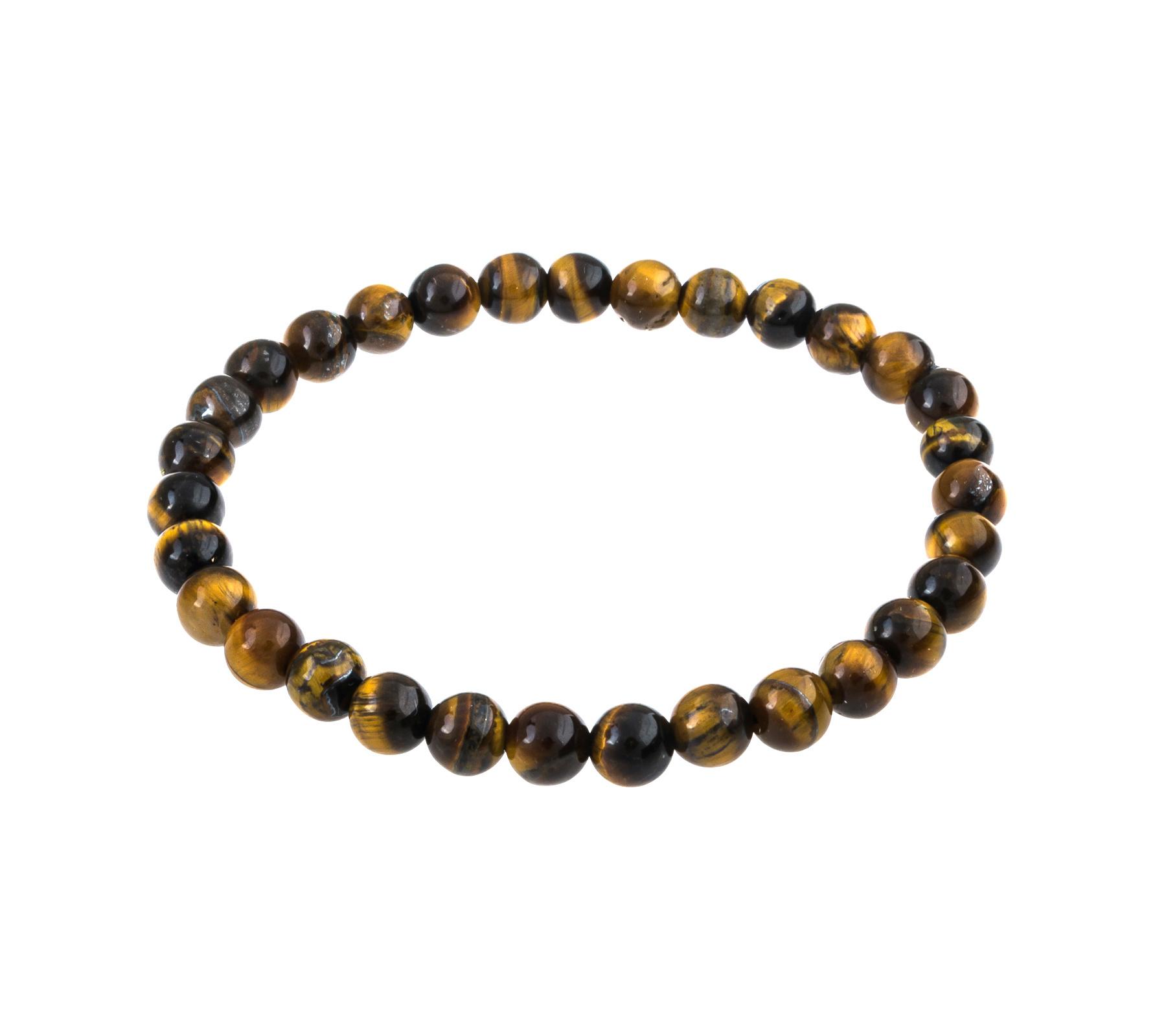 Gemstone bracelet tiger eye 6mm-1