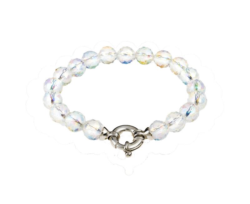 Gemstone bracelet coated rock crystal with lock-1