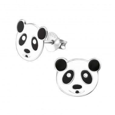 Zilveren oorstekers pandabeer-1
