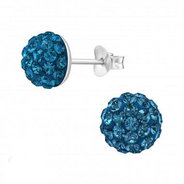 Zilveren oorstekers kristallen-2