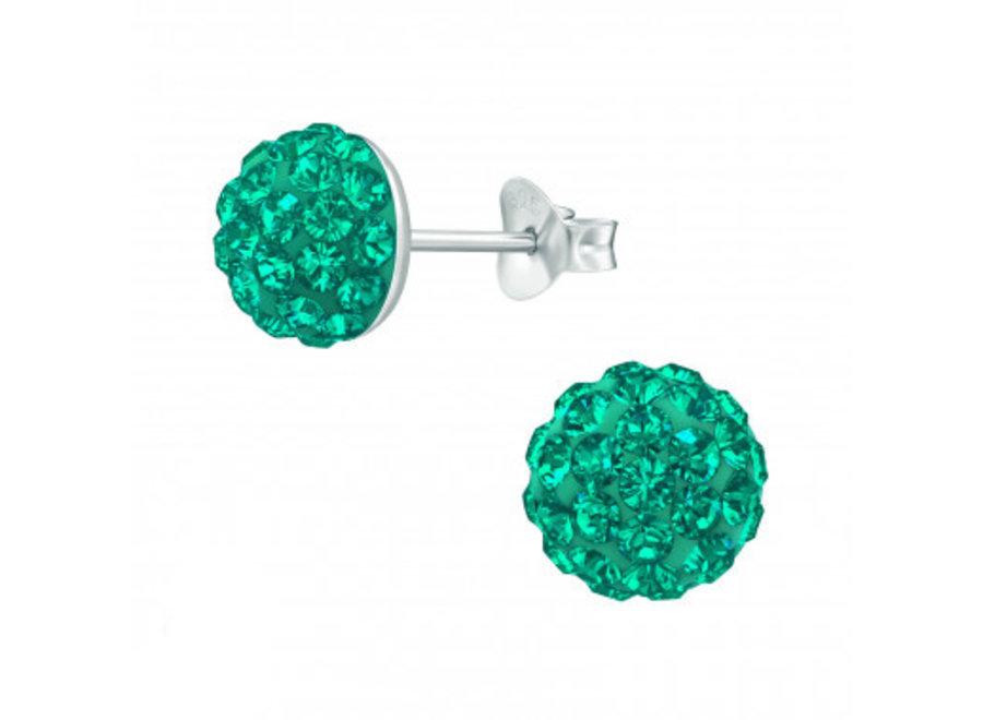 Zilveren oorstekers kristallen