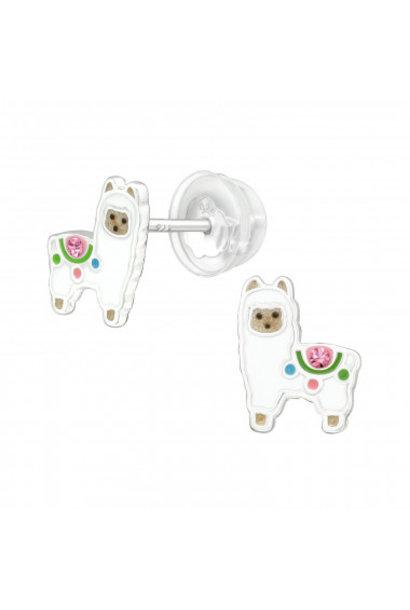 Silver alpaca earrings