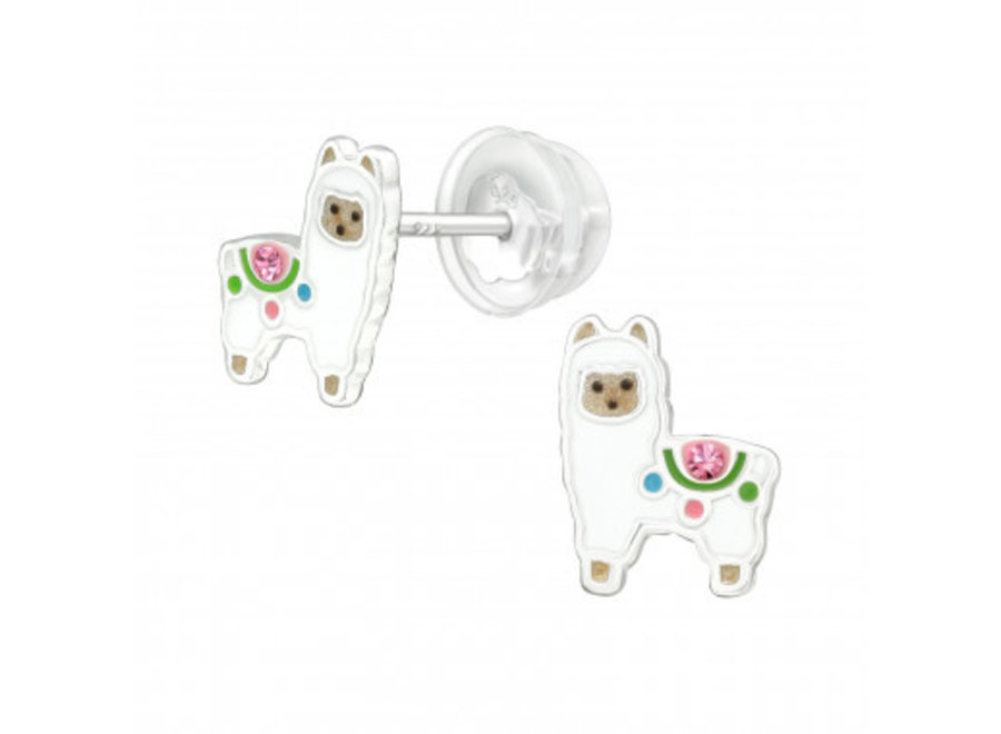 Zilveren oorstekers alpaca