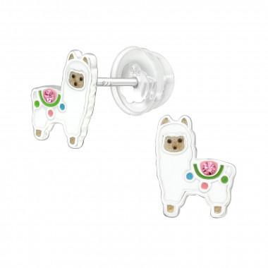 Zilveren oorstekers alpaca-1