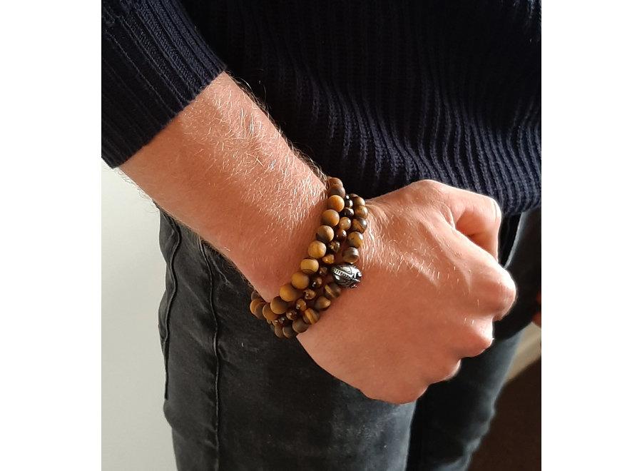 Gemstone bracelet tiger eye matte