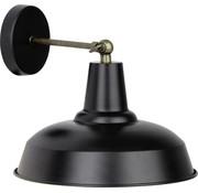 Brilliant Brilliant Wandlamp Ronaldino 90099/76 zwart messing 28cm