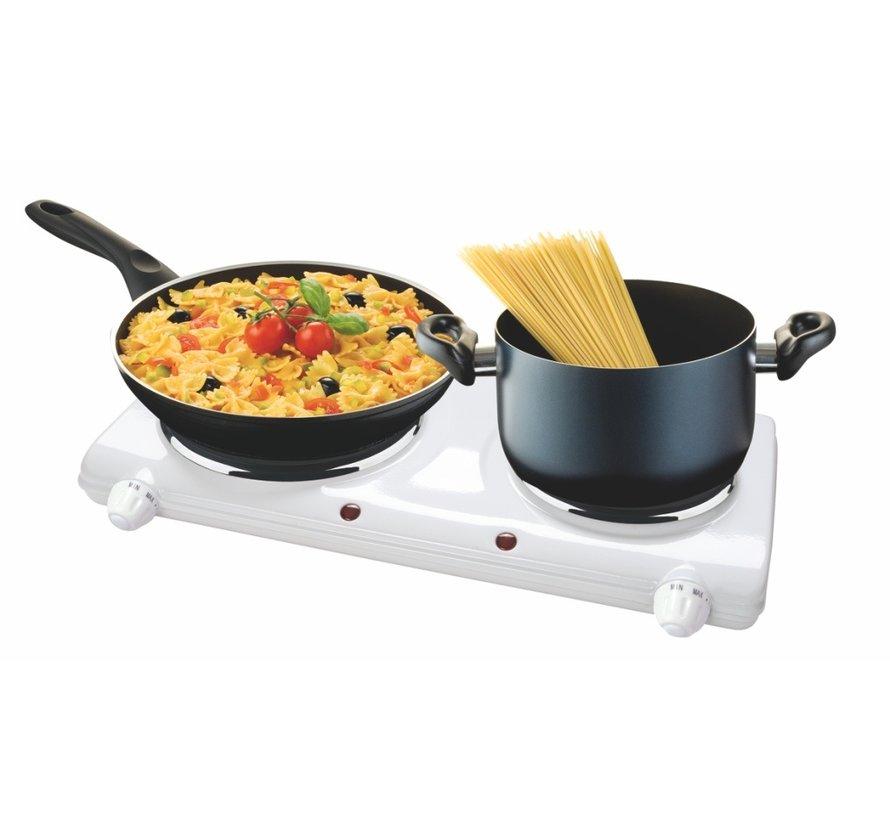 Kemper elektrische kookplaat Dorella 2250W tweepits