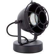 Brilliant Tafellamp Carmen XS grill industrieel floodlight mat zwart 28W Ø 13 cm GU10