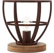Brilliant Tafellamp Matrix XL landelijk roest metaal 60W Ø 25 cm