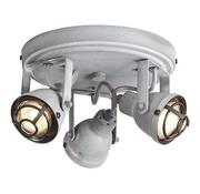 Brilliant Plafondspot Bente 3-lichts industrieel beton grijs incl. 3 x 4W LED Ø 21,5 cm