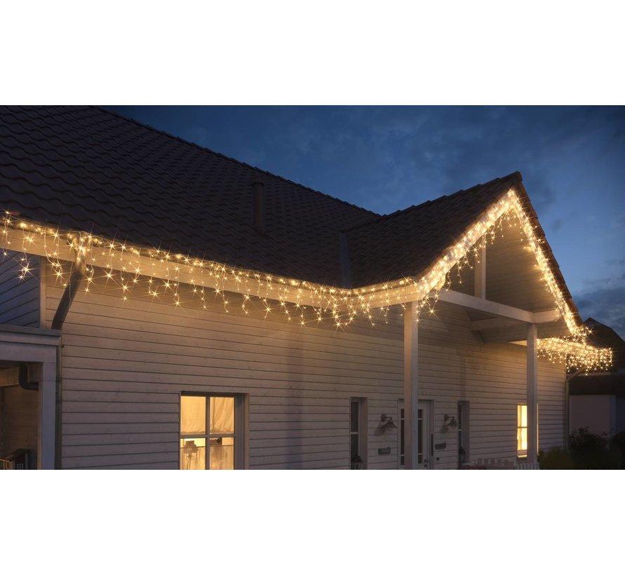 Grundig LED Kerstverlichting ijspegels 160 stuks Warm wit 810 cm voor Binnen/Buiten