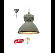 Brilliant Brilliant Industriele Hanglamp Anouk 93678/70 beton 40cm incl warme lamp
