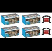 Grundig 4 x Grundig LED Kerstverlichting ijspegels 160 st warm wit 8m voor Binnen/Buiten -  incl 2x gratis handige Opwikkel haspel