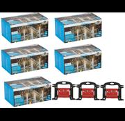Grundig 5 x Grundig LED Kerstverlichting ijspegels 160 st warm wit 8 m voor Binnen/Buiten incl 3x gratis handige Opwikkel haspel