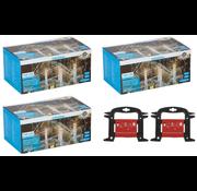 Grundig 3 x Grundig LED Kerstverlichting ijspegels 160 st warm wit 8m voor Binnen/Buiten - incl 2 x gratis handige Opwikkel haspel