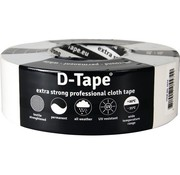 D-Tape D-Tape Extra sterke proffesionele Cloth tape wit 50m x 50mm