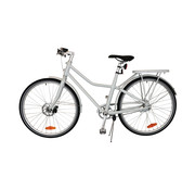 "Tom TOM City Bike Deluxe ""Unisex"" 28 inch - Wit - 49cm - Excl.  Accessoires"