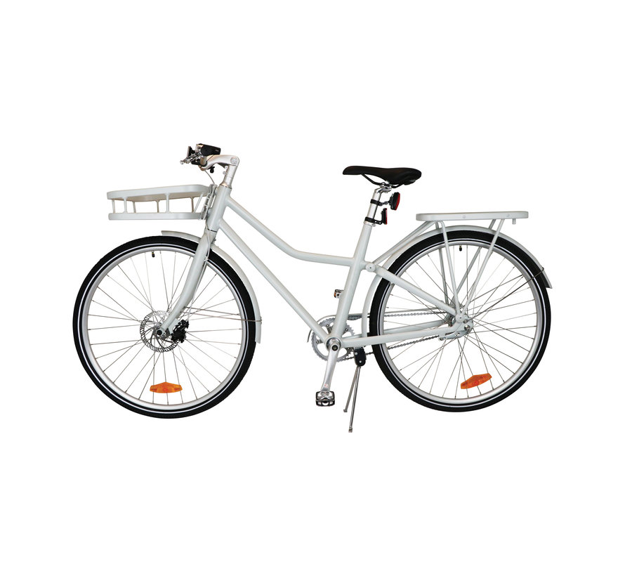 "TOM City Bike Deluxe ""Unisex"" 28 inch - Wit - 49cm Excl. Accessoires"