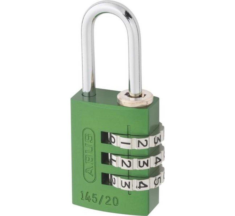 Abus hang/cijferslot 22.5 mm groen