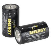 Heitech Heitech Zink mangaandioxide Mono D batterijen 2 stuks