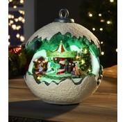 Generic Winter wonder kerst bal met carrousel