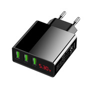 Eaxus Eaxus 3-voudige USB oplader met geïntegreerde snellaadfunctie en LED indicatie