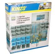 Kinzo Kinzo gereedschapswand - 100 x 54cm - 10 haken - 43-delig
