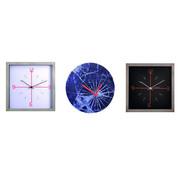 NeXtime Nextime Wandklok vierkant, metaal, wit, 25 x 25 cm