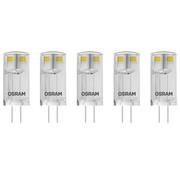 Generic LED BASE PIN lamp 1,8W G4 warm wit 5 stuks