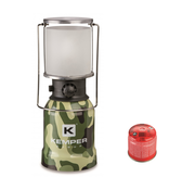 Kemper Kemper RVS draagbare gasverlichting met piëzo ontsteking + 1 gasbus