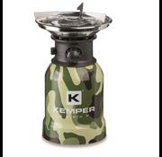 Kemper Kemper RVS portabele camping gaspit met piëzo ontsteking - 1 pits - camo