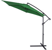 Kingsleeve Kingsleeve Parasol inklapbaar aluminium groen inclusief slinger Ø 330 cm