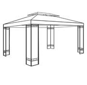 Deuba Deuba Stalen frame paviljoen Elda XXL 3 x 4m