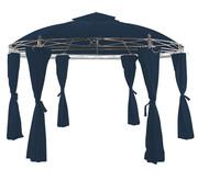 Deuba Deuba Paviljoen Toscana blauw Ø 3,5m x 2,74m