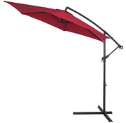 Kingsleeve Kingsleeve Parasol inklapbaar aluminium rood inclusief slinger Ø 300 cm