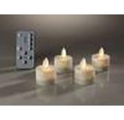 Generic LED theelichtjes met afstandsbediening 4 stuks