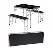 Generic Inklapbare campingtafel met 2 banken - 90 x 60 x 70cm