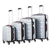 Monzana Monzana Kofferset van 4 stuks. S/M/L/XL Basislijn zilver